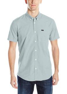 RVCA Men's Thatll Do Micro Short Sleeve Woven Shirt  2XL