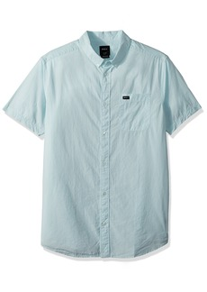RVCA Men's Thatll DO Micro Short Sleeve Woven Shirt  XL