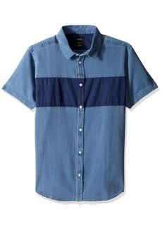 RVCA Men's That'll Do Mix Short Sleeve Woven Shirt