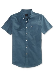 Rvca Men's That'll Do Oxford Cotton Shirt