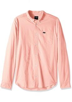 RVCA Men's That'll Do Oxford Long Sleeve Woven Shirt  L