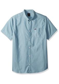 RVCA Men's Thatll Do Oxford Short Sleeve Woven Shirt