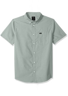 RVCA Men's That'll DO Oxford Short Sleeve Woven Shirt  S
