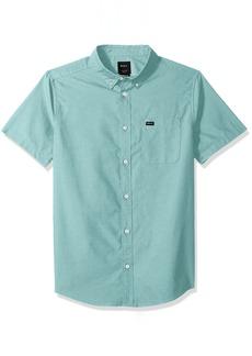 RVCA Men's Thatll Do Oxford Short Sleeve Woven Shirt  XL