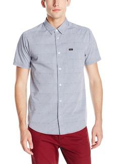 RVCA Men's Va Dobby Short Sleeve Woven Shirt