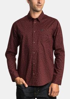Rvca Men's Vu Slim-Fit Floral-Print Shirt
