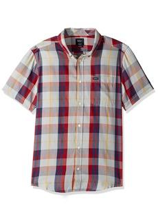 RVCA Men's Waas 2 Short Sleeve Woven Shirt