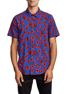 RVCA Peace Poppy Short Sleeve Button-Up Shirt