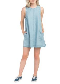 RVCA Release Chambray Shift Dress