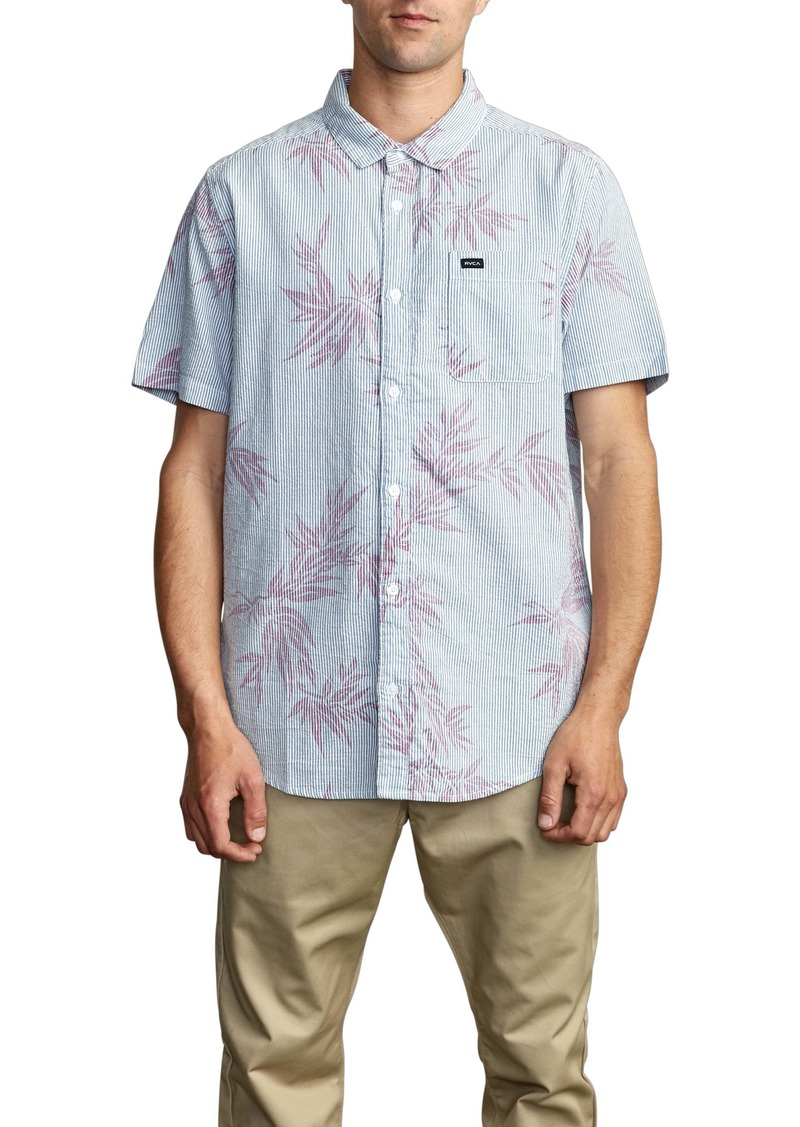 RVCA Richmond Short Sleeve Seersucker Button-Up Shirt