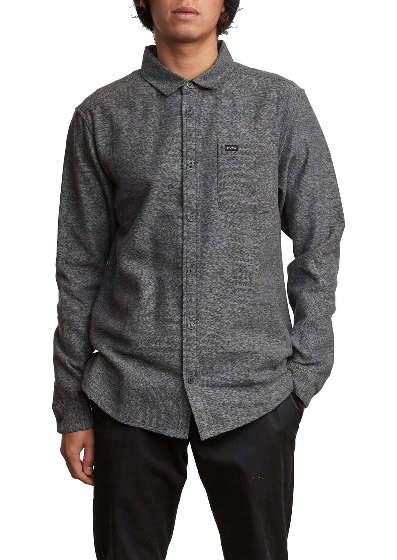 RVCA Sand Button-Up Flannel Shirt