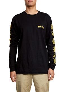 RVCA Snake Skin Graphic Long Sleeve T-Shirt