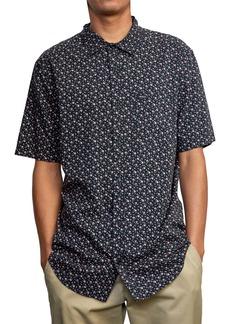 RVCA Solomon Floral Short Sleeve Button-Up Shirt