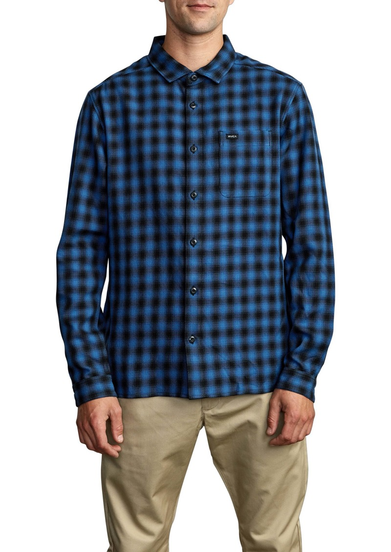 RVCA Telegraph Check Flannel Button-Up Shirt