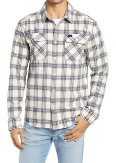 RVCA That'll Work Regular Fit Plaid Flannel Button-Up Shirt