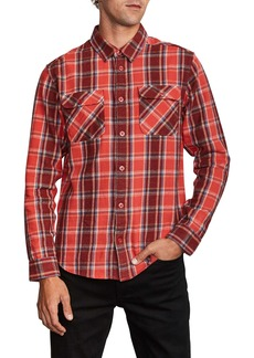 RVCA That'll Work Regular Fit Plaid Flannel Shirt