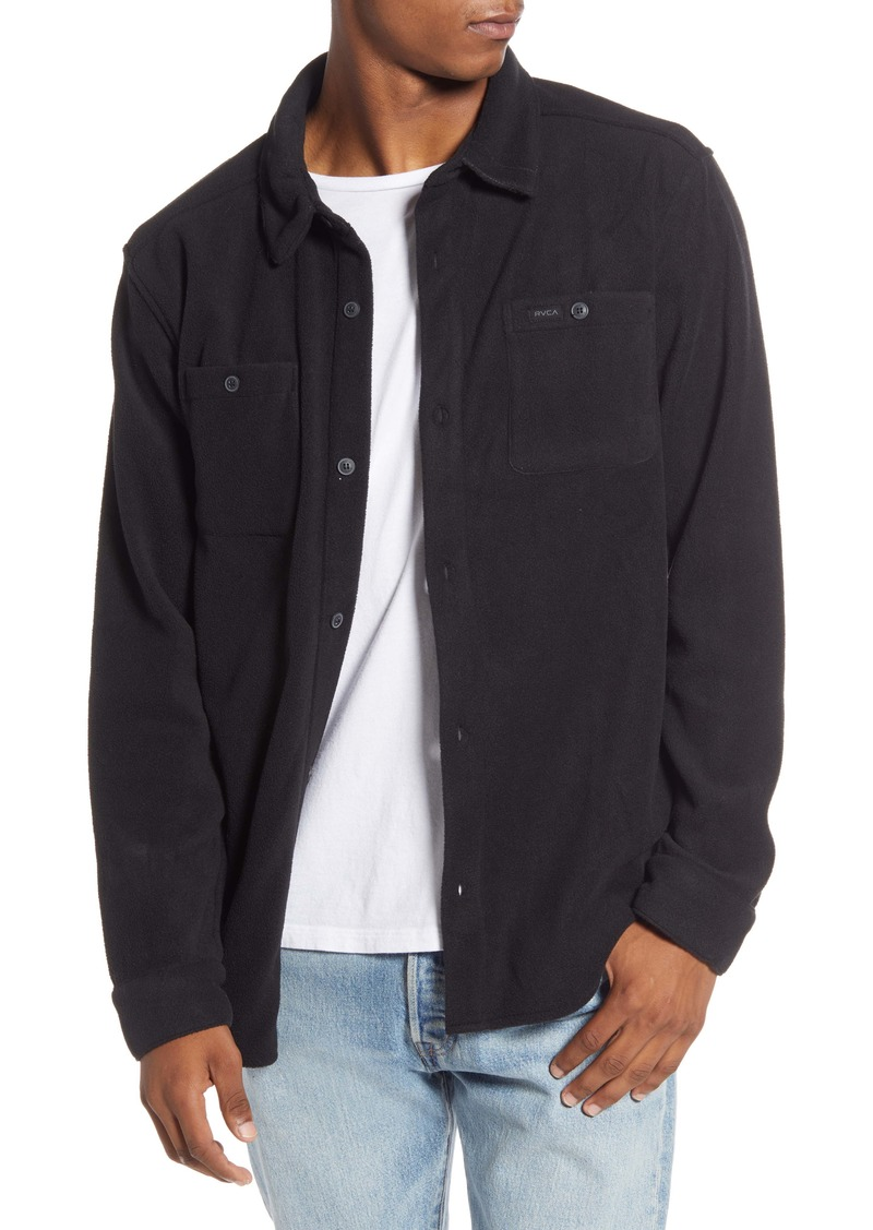 RVCA Uplift II Button-Up Fleece Shirt