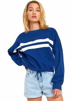 RVCA Women Aced Fleece Sweatshirt Blue