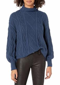 RVCA Women Attraction Knit Sweater Blue