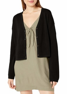RVCA Women Authority Knit Button-Up Cardigan  XS/6