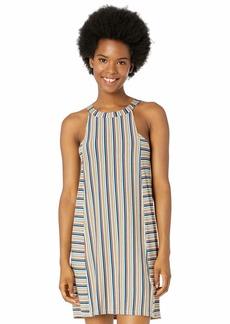 RVCA Women Bailey Striped Knit Dress Brown