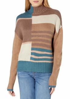 RVCA Junior's Crossfire HIGH Neck Sweater  L