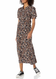 RVCA Women Dixie Midi Dress Grey XS/6