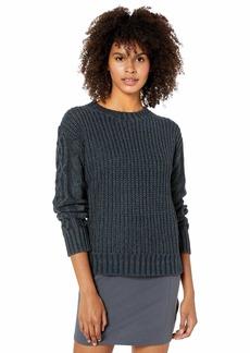 RVCA Women Ember Oversized Knit Sweater Blue S/8