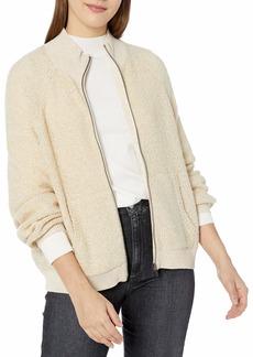 RVCA Women Erratic Zip-Up Knit Sweater Brown