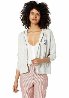 RVCA Women Fontana Fleece Zip-Up Hoodie Grey