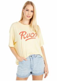 RVCA womens Friday Short Sleeve Crew Neck T-shirt T Shirt   US