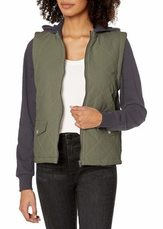 RVCA Women Joyride Zip Fleece Jacket Blue