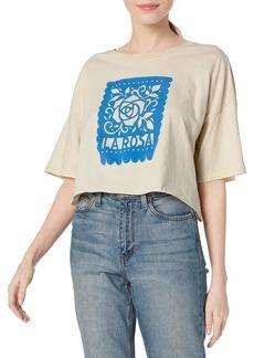 RVCA Women's LA ROSA Crop T-Shirt  L