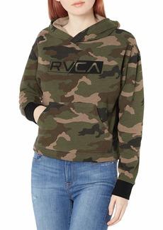 RVCA Women Lateral Rvca Hoodie Brown L/12