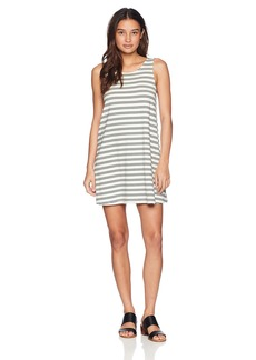 RVCA Women Lost Lane Striped Swing Dress White L/12
