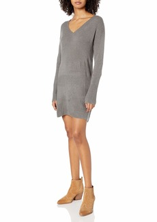 RVCA Women Quartz Sweater Dress Grey