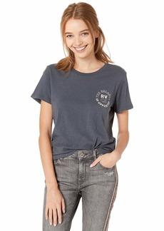 RVCA Women Siam Baby T-Shirt Blue L/12