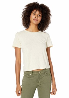 RVCA Women Solid Label Baby T-Shirt Brown S/8