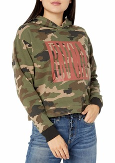 RVCA Women Stretched Hoodie Brown