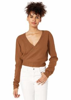 RVCA Women The Fuz Wrap Sweater Yellow