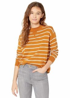 RVCA Women Tristan Striped Sweater Brown L/12