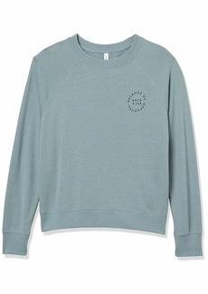 RVCA Women Va Circle Pullover Sweatshirt Grey XS/6