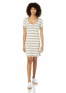RVCA Women's Vamp Striped Knit Dress Beige XS/