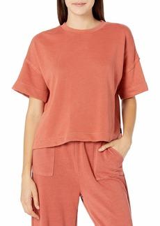 RVCA Women's Vegas Pullover-Sweatshirt HOT CORAL S