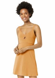 RVCA womens All Talk Dress camel M