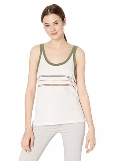 RVCA Womens Another Stripe Tank TOP off off white S