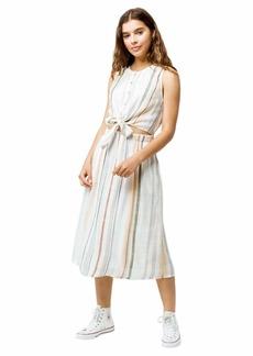 RVCA Womens Arizona Fitted MIDI Dress whisper white XS