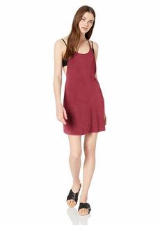 RVCA Women's Backside Mini Dress Cover-UP  L
