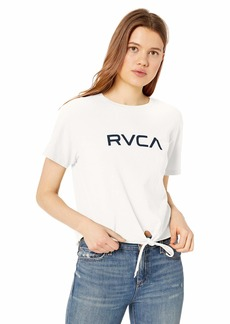 RVCA Women's Big Knot Front Cropped T-Shirt  XL