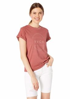 RVCA Women's Billiard Classic FIT Short Sleeve Crew Neck T-Shirt Burnt red S